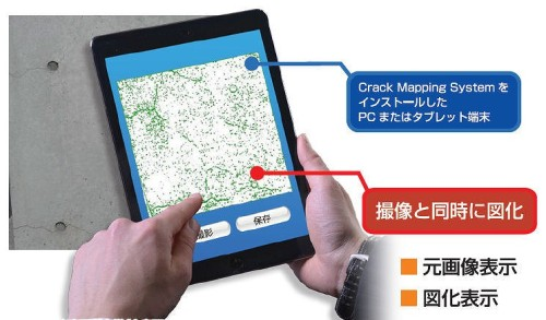 ひび割れ点検支援システム「Crack Mapping System」の使用イメージ(以下の資料:NSW)