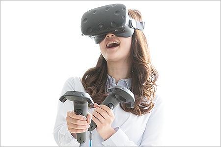 VRゴーグルにより実寸大で立体視できるVRコンテンツに変換