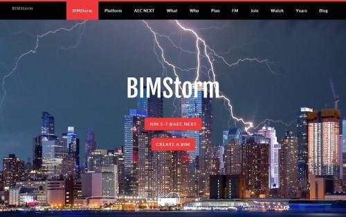 BIMStormのウェブサイト