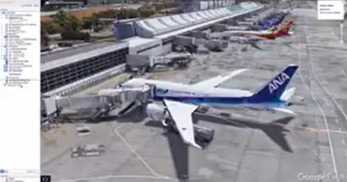 日本からもANAのボーイング787型機が就航しているサンノゼ国際空港のイメージ図