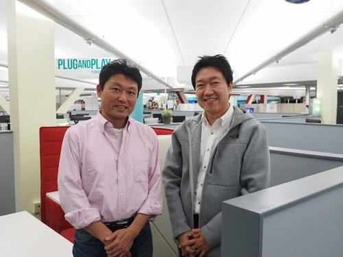 現地での情報収集を担当する竹中工務店技術企画部グローバルリサーチ&イノベーションチームのチーフテクノロジスト、大石潤氏(左)と技術企画部主任 企画担当の松岡康友氏(右)