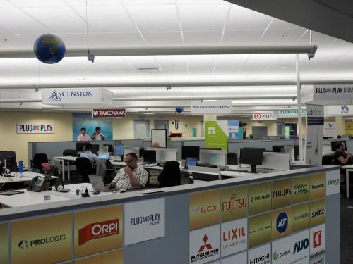 IoT関連のスポンサー企業が集まるエリア