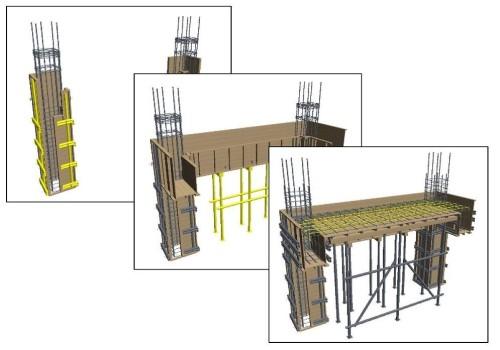 施工段階ごとに表示が変化する3D施工手順図