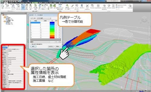 SMC-GeoCIMの管理画面イメージ(以下の資料:三井住友建設)