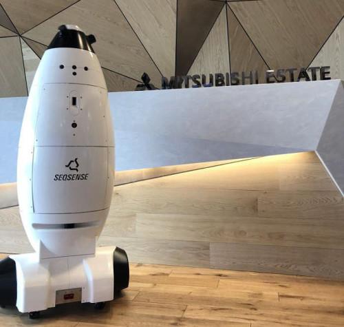 SEQSENSEが開発中の自律移動式ロボット(以下の写真、資料:三菱地所)