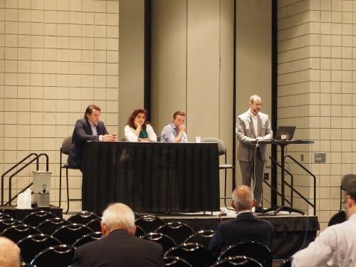 AIA全米大会で行われたイノベーションアワード受賞作品についての解説セッション(写真:家入龍太)
