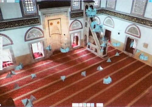 寺院内部での写真撮影ポイントと向き