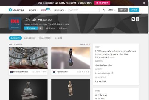 VR作品共有サイト「Sketchfab」の「IDIA Lab」のコーナーで公開された作品