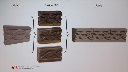 Maya→Fusion 360→RevitによるBIMパーツ化の流れ