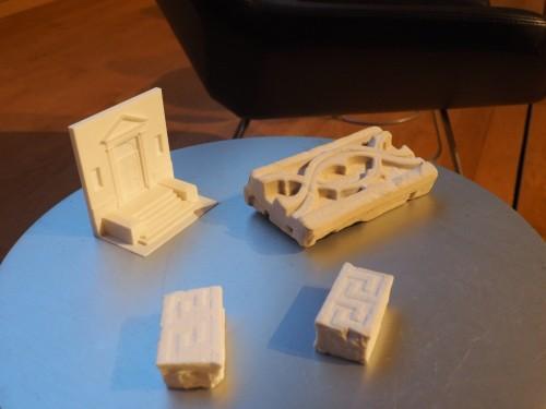 3Dプリンターによる模型も製作した(写真:家入龍太)