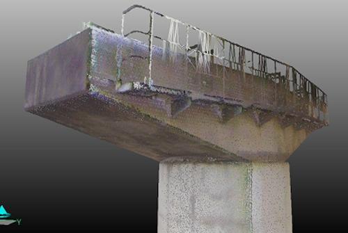 橋脚も細部まで、忠実にメッシュ化されている