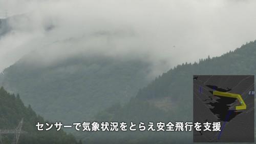 雲や霧が立ちこめていても安全に飛行できる