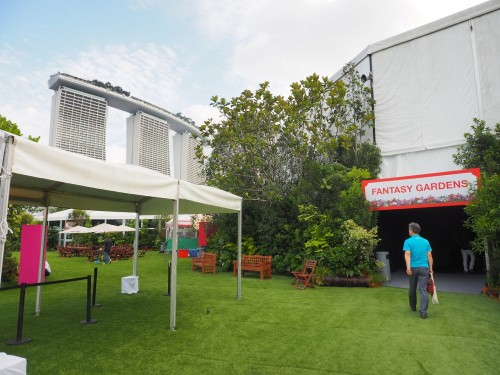 ガーデン・バイ・ザ・ベイに設置されたテント