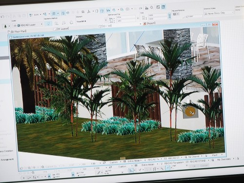 外構を3Dで設計するRIKCADの画面