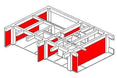 建物の説明書で、耐力壁を可視化するのにBIMモデルを活用した例
