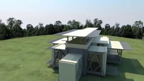 テン・フォールド・エンジニアリング社が開発したプレハブ建物(以下の資料:Ten Fold Engineering)