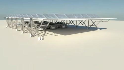 ガレージを兼ねた太陽光発電所