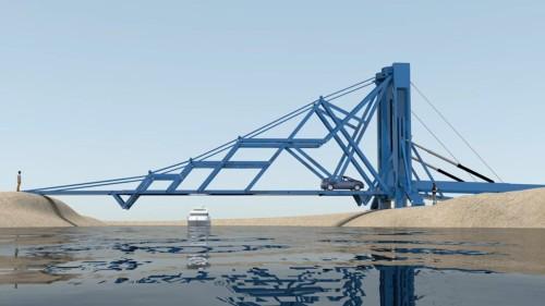 折りたたみ式の橋