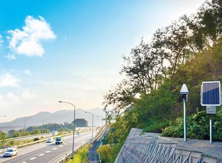 「DANA」による道路擁壁の変位観測イメージ