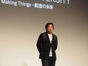 特別講演「建築の未来」を行った建築家・京都大学教授の平田晃久氏