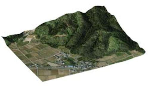 景観地形データを読み込んでリアルな景観を再現できるようになった