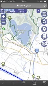 茨城県の「古河」ポイント。渡良瀬川の水位などが見られる