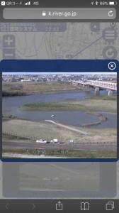 通常時の写真も見られるので、現在の水位がどれだけ高いのかもわかりやすい