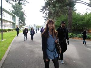 サンフランシスコ州立大学のキャンパスで