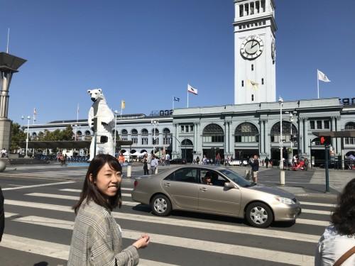 学生から今も、サンフランシスコで活躍する山ノ口さん。フェリーターミナル前で