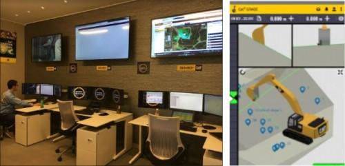ICT建機の機能や最新技術の検証、機械のコンディション分析なども行える