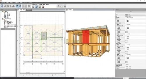 CLTパネル工法用の構造計算ソフト。設計手法のルート1からルート3まで対応している(以下の資料:ライフデザイン・カバヤ)