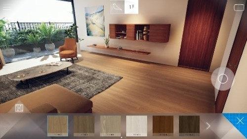 床や建具の色を変更するのも簡単