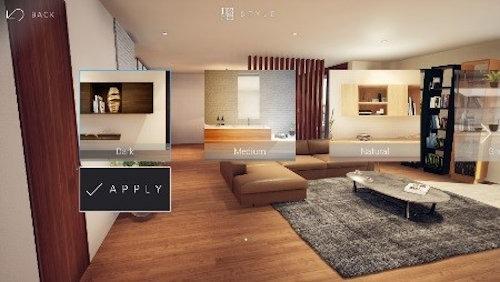 内装のスタイルを一括変更する画面