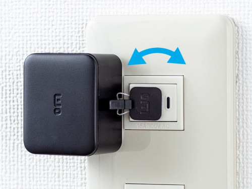 付属のアタッチメントでスイッチを「引き上げ」て、OFFにすることも可能だ