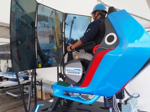 アスラテックが開発に協力したKanaRobo用の体感型コックピットコントローラー