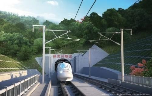 China Railway Siyuan Survey and Design Group(中国鉄路総公司十堰調査設計グループ)による、中国、湖北省のWuhan-Xiangyang-Shiyan Railway