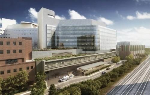 米国 Skanska 社によるバージニア州の University of Virginia Health System (UVA) University  Hospital Expansion
