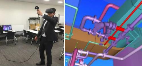 VRによる干渉チェックの様子
