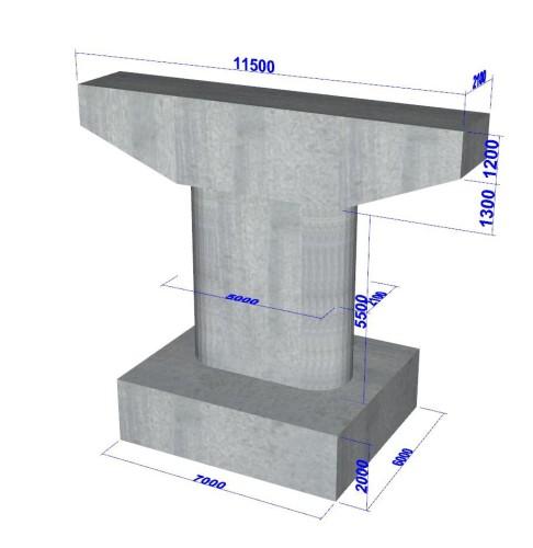 「橋台の設計・3D配筋」で作成した3DAモデル(以下5点の資料:フォーラムエイト)