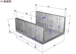 開水路の設計・3D配筋