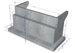 橋台の設計・3D配筋