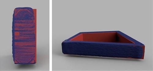 設計時の3Dモデルと点群の比較例