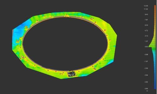 4D分析で基礎の沈下を見える化した例