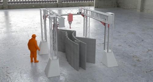 縦6.9m×横12.2m×高さ6.6mまでのものを造形できる「BOD2-353型」。価格は30万ユーロ(約3800万円)