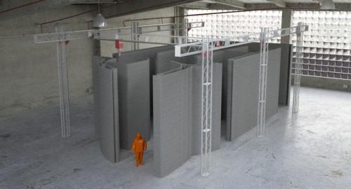 縦9.5m×横19.8m×高さ6.6mまでのものを造形できる「BOD2-483型」。価格は41万6000ユーロ(約5300万円)