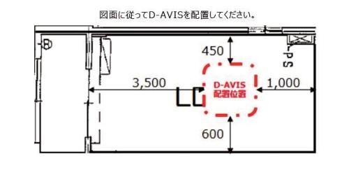 平面図に従って「D-AVIS」を配置する