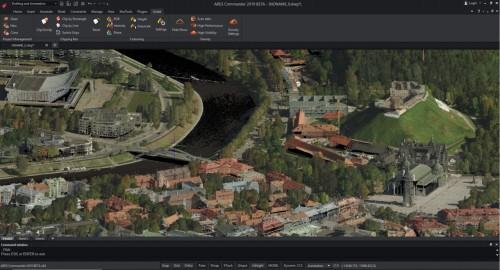 ARES 2019 Commanderに読み込んだ3D点群データ