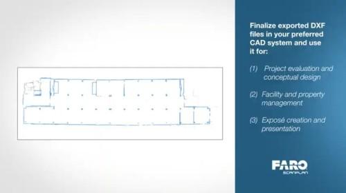 点群で表示されたフロア全体の見取り図