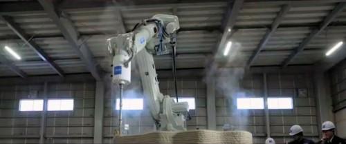 札幌市内の施設で稼働する3Dプリンター