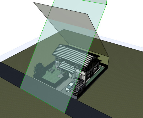 3Dを生かした斜線制限の確認